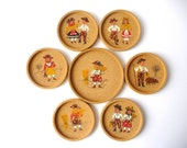 Cork Coasters, Six Glasses and One Bottle Coaster, Traditional Portuguese Clothing Images
