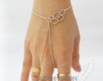 Multi Teardrop Pendant, Bubble Pendant, Simple Chic, Gypsy, Gladiators Hand Bracelet Finger Bracelet Slave Bracelet