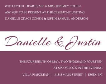Wedding Invite Item 00203
