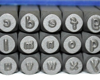 Metal Letter Stamp Set- Alphabet Stamps- 3MM Lowercase Steel Stamps ...