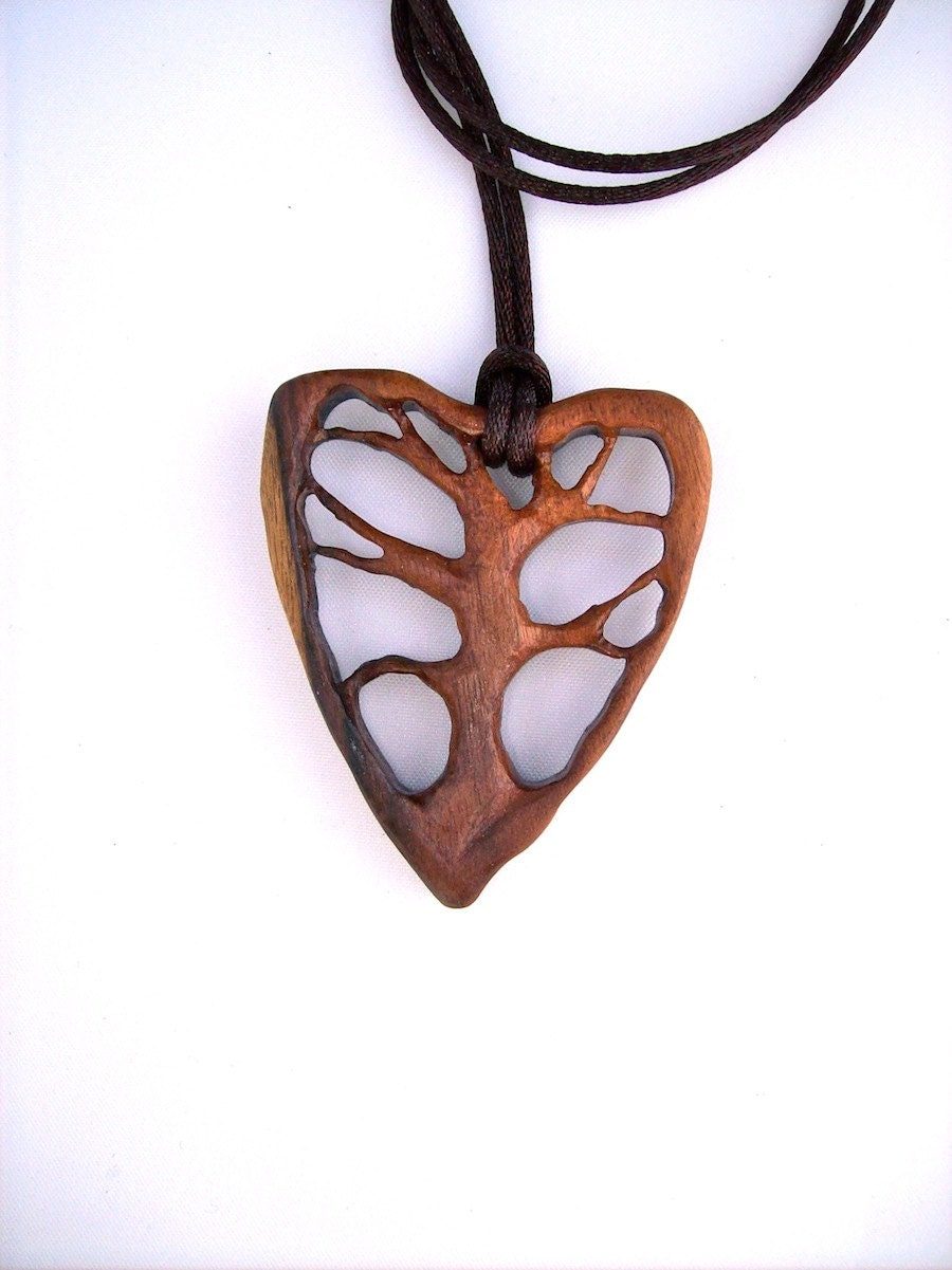 Wood pendant tree of life pendant wooden jewelry wooden for How to carve a wooden ring