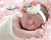 25% OFF-Newborn Headband-Baby Girl Headband-Baby Headband-Baby-Baby Girl-Vintage Inspired Headband-Baby Headbands-Infant Headband-Headband