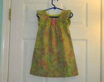 Kellie A line dress with flutter sleeve Size 3