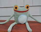 Frog Friend with Orange Eyes