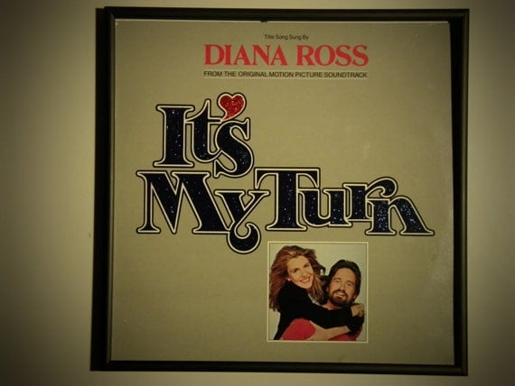 "Glittered Record Album - Diana Ross - Motion Picture Soundtrack ""It's My Turn"""