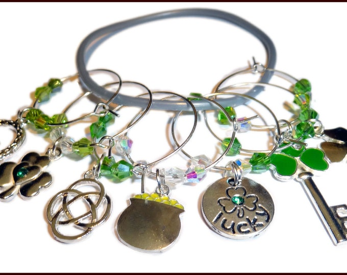 St. Patrick's Day Wine Charms - Lucky Charms, 7 pack