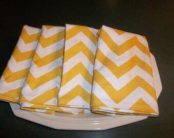 yellow chevron napkins 16x16