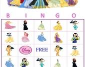 Disney Princess Personalized Bingo