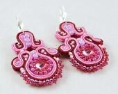 Pink crystals - BeadsAmi