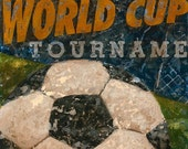Soccer - World Cup Tournament vintage look wall art by Aaron Christensen.  Perfect decor idea for the soccer fan or player.
