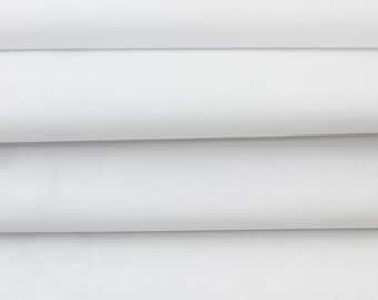 "60"" White Cotton Sheeting Fabric for Bed Sheets, Arts and Crafts DIY Project, Curtain, Upholstery Fabric"