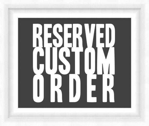 Reserved: Annie's Custom Destinations