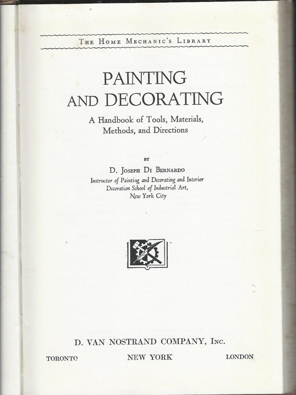 painting and decorating handbook of tools materials methods