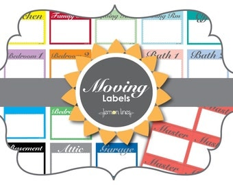 Moving Labels by Lemon Lines - EDITABLE INSTANT DOWNLOAD