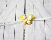 Baby butterfly headband, tiny butterfly headband, newborn baby girl headband