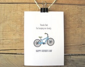 Father's Day Card. Bike Card for Dad. Bicycle card for dad.