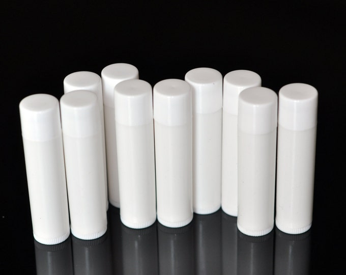 50 pcs 5g White Cosmetic Lip Balm Tubes Lipstick Empty Container Tubes