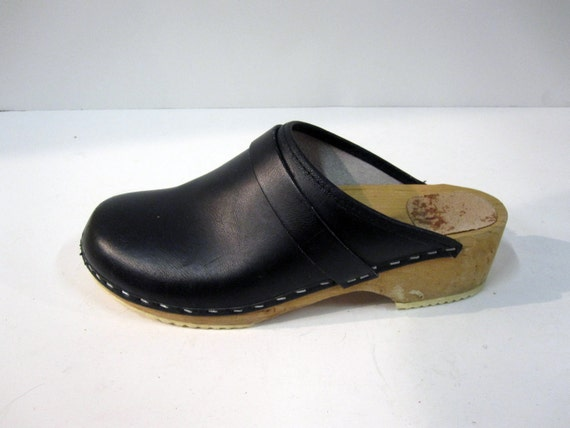 Vintage Wooden Clogs 36