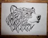 Feather Bear Print