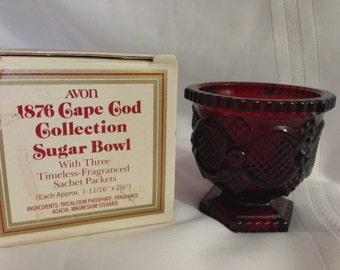 1876 Avon Cape Cod Collection Sugar Bowl Vintage