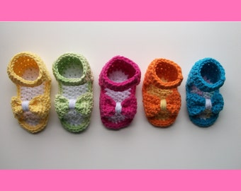Crochet Pattern - Baby Bow Shoes / Sandals
