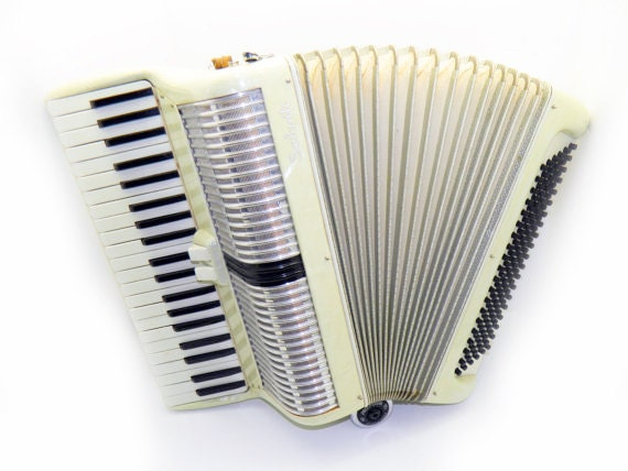 Salanti mother of pearl Accordion with case