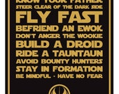 Star Wars Inspired Quotes, Digital Art Print 14x11