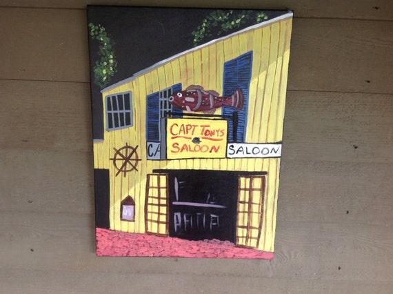 Capt Tony's Saloon key west 18x24 original painting on canvas