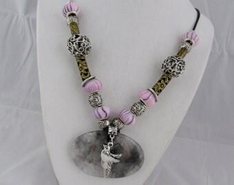 Rutilated Quartz Necklace - Boho Necklace -   Fashion Necklace -  Rutilated Quartz and Beads