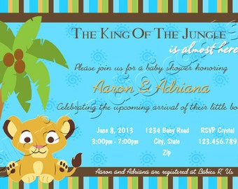 Baby Lion King Shower Invitation by Gloria's Digi Cards