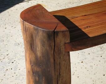 Modern Reclaimed Log Bench Coffee Table