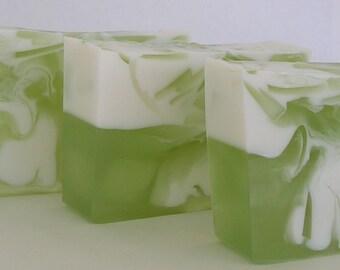 Coconut Lime Verbena Glycerin Soap