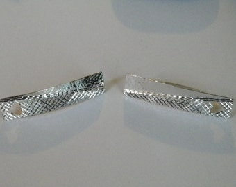 Handmade Hammered and Diamond Cut Design .925 Sterling Silver Dangle Earring