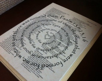 Psalm 139:13,16 Spiral Scripture Bible Verse on Wood Plaque