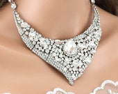 Bridal Necklace Wedding Necklace Crystal Pearl Wedding Bridal Necklace Bridal Jewelry Wedding Jewelry Bridal Accessories Style-N288