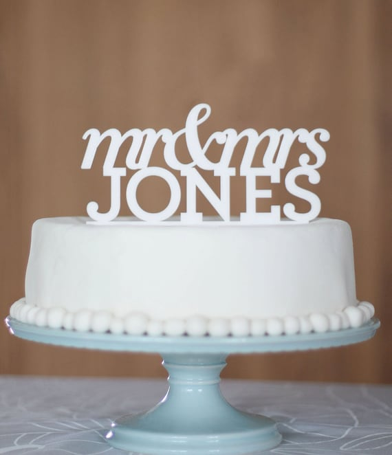 Wedding Cake Toppers Letters Uk : Items similar to Wedding Cake Topper, cake topper, name ...