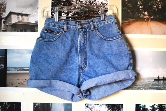 Vintage High-Waisted Route 66 Shorts