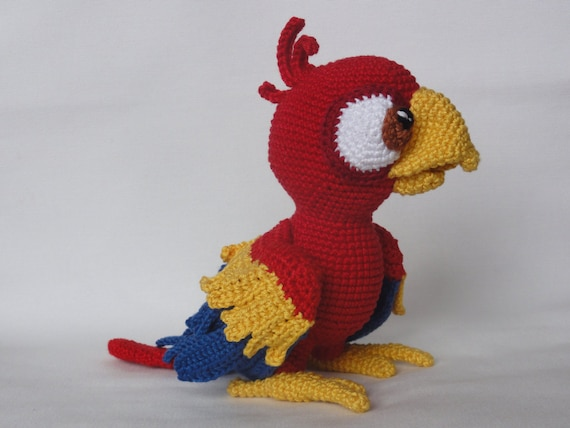 Amigurumi Askina Etsy : Amigurumi Crochet Pattern Chili the Parrot