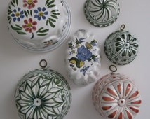 Vintage Decorative Ceramic Molds made in Italy and Mexico - Set of Six