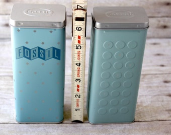 Fossil Tin Container Fossil Watch Box collectible watch tin