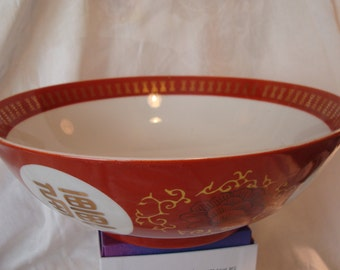 Vintage Lotus Dcorated Bowl made in Taiwan