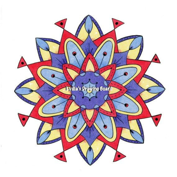 Atomic Age, Atomic Era, Atomic Art, Mid Century Modern Art, Mandala, Mid Century Modern, Mandala Wall Art, Mandala Wall Decor, Geometric Art