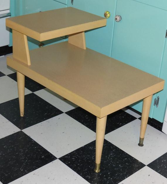 Mersman 8124 Mid Century Blonde Step Vintage End Table
