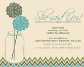 Country Chic Bridal Shower/Engagement Party Invitation, DIY Printing