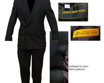 Mens Jones New York Double Breasted Suit / Mad Men Suit / Swing Suit