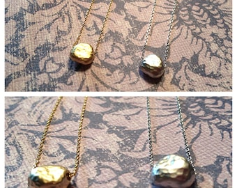 Celebrity Inspired Pebble Necklace