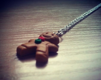 Small Gingerbread Man Necklace
