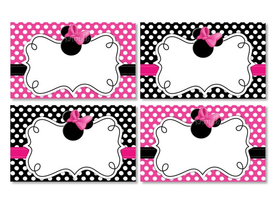 Items similar to INSTANT DOWNLOAD Blank Minnie Mouse Food ...