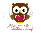 INSTANT Download Maternity BABY bumps first VALENTINE'S Day Printable Download  - tee shirt Iron on Transfer, diy
