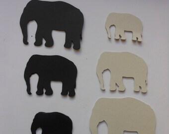 Die-cut Elephants -cc